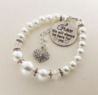 Goddaughter Personalized  ' We will always be here'  Bracelet  - Boxed